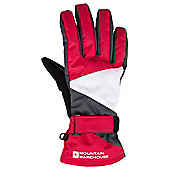 Brumal Womens Ladies Autumn Winter Sports Thick Thermal Snowboarding Ski Gloves - Red