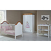 OBaby B is for Bear Double 3 Piece Room Set (White)
