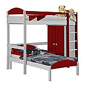 Maximus L Shape High Sleeper Set 1 White With Red Details