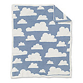 Mothercare Chenille Blanket - Blue Clouds