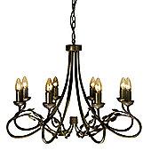 Elstead Lighting Olivia 8 Light Chandelier - Black/Gold