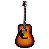 Martin Smith Full Size Left Hand Dreadnought Acoustic Guitar - Sunburst