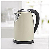 Tesco Stainless Steel Jug Kettle, 1.7L - Cream