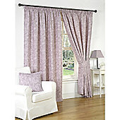 Genesis Heather Pencil Pleat Lined Curtains - 66x72