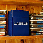 Crocus Labels Storage Box - Blue