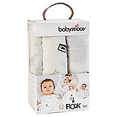 BabyMoov Muslin Blanket Set - Rock