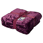 Purple Super Soft Fleece Throw