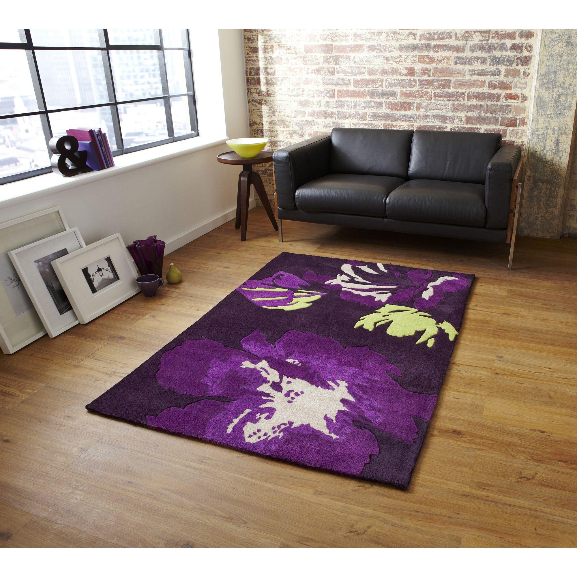 Oriental Carpets & Rugs Hong Kong 2827 Purple/Green Rug - 150cm x 230cm