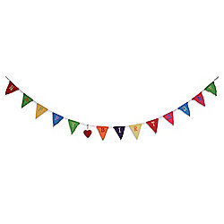 2m Long 'Happy Birthday' Bunting Garland In Bright Colours