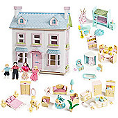 Le Toy Van Mayberry Manor Dolls House, Sweetbee Furniture and Dolls