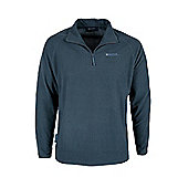 Waffle Textured Men's Fleece - Blue