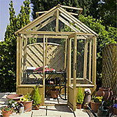 6ft x 6ft Wooden Pressure Treated Greenhouse