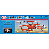 Guillows Fokker Triplane 204 Powered Balsa Aircraft 1:16 Flying Model Kit
