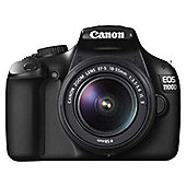 Canon EOS 1100D 12MP Digital SLR Camera Black with EF-S 18-55mm IS II Lens
