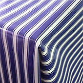 Blue Stripes 250cm x 135cm Oilcloth Tablecloth