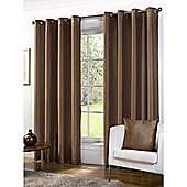 Faux Silk Bronze Lined Ring Top Curtains - 90x72 Inches