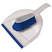 Tesco Basics Dustpan & Brush Blue