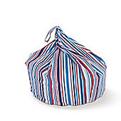 Just 4 Kidz Kids 30cm Practical Bean bag - Sky Stripe