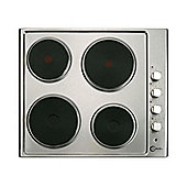 Flavel FLH61PX 600mm Built in 4 Solid Plate Electric Hob in Silver