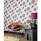 Graham & Brown Juliet Premier Wallpaper - Plum