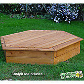 Wooden Lid Specifically for the 1.5m Hexagonal Garden Games Sandpit
