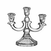 Parlane Glass Candle Holder - 3 Arm Design