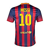 2013-14 Barcelona Home Shirt (Messi 10)