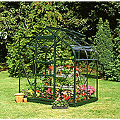Halls 4x6 Supreme Greenframe Greenhouse + Base - Toughened Glass