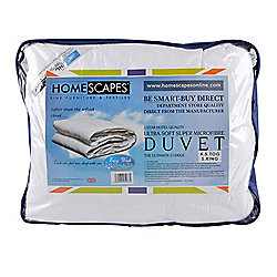 Homescapes Luxury Hotel Quality Super Microfibre 4.5 Tog Super King Size Summer Duvet