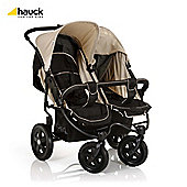Hauck Roadster Duo Twin Pushchair, Caviar/Almond
