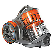 C87M8B 250AW Cylinder Vacuum Cleaner with 1.6L Capacity in OrangeSilver