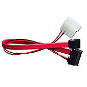 Akasa AK-CB050 SATA Cable for Slimline Opticals - Red