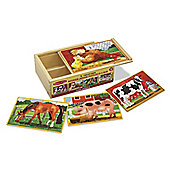 Farm Animals - Puzzles In A Box - Melissa & Doug