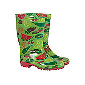 Mountain Warehouse Fruit Women's Ladies Festival Wellies DD Waterproof Wellington Boots - Green