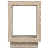 Torino Cube Side Table Whitewashed Oak Effect