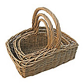 Wicker Valley Willow Wild Rectangular Basket (Set of 3)