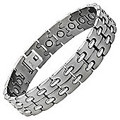 Willis Judd Mens Brushed Titanium Magnetic Bracelet In Black Velvet Gift Box