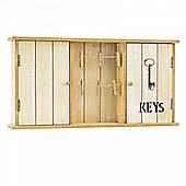 Hand Finished Double Wooden Key Cabinet & Note Holder