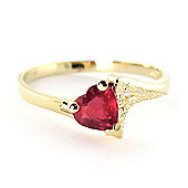 QP Jewellers 1.0ct Ruby Devotion Heart Ring in 14K Gold