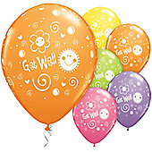 11' Get Well Sun & Flowers Assortment (25pk)