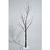 Kaemingk Outdoor LED Xmas Tree with Snow - Cool White - 160cm - 96 Lights