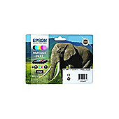 Epson Elephant 24XL (RF/AM) High Capacity 6 Colour Multipack Ink Cartridge (Black, Cyan, Magenta, Yellow, Light Cyan, Light Magenta) for Epson
