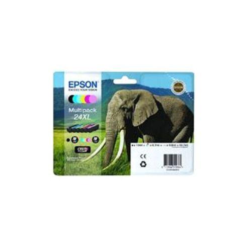 Epson Elephant 24XL (RF/AM) High Capacity 6 Colour Multipack Ink Cartridge (Black, Cyan, Magenta, Yellow, Light Cyan, Light Magenta) for Epson