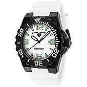 Swiss Legend Expedition Mens Rubber Date, Rotating Bezel Watch SL-10008-BB-02WHT