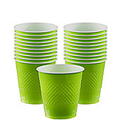 Lime Green Cups - 266ml Plastic Party Cups