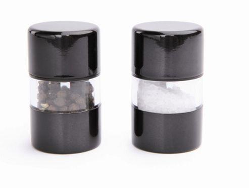 David Mason Design Mini Gem 6cm Salt and Pepper Mill Set - Black