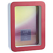 Tesco Curved Box Photo Frame Red 5X7
