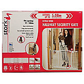 Stork Childcare Products Hallway Safety Gate (Standard Height - White)