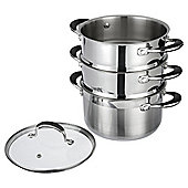 Tesco Stainless Steel 3 Tier Steamer