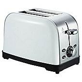 Tesco 2 Slice Stainless Steel Toaster - White
